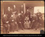 Image of Siberia, Group of Military, Council and Civil officers with members of the commission, Khabarofsk