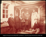 Image of William Henry Jackson photograph of crew with Siberian officers