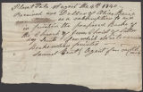Image of Samuel Bent receipt to Olive [Baice?]