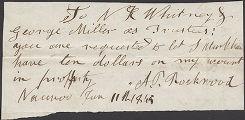 Albert Perry Rockwood order in favor of Stephen Markham