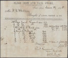 Lyon, Shorb and Co. bill of iron and nails