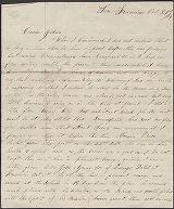 Image of Daniel Smith Mills letter to Joshua K. Whitney