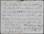 William Clayton record of brand registered to Newel Kimball Whitney