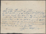 Lyman Wight receipt to William Brewster