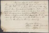 Alpheus Cutler, Reynolds Cahoon, and Elias Higbee receipt to Joseph Smith, Jr.