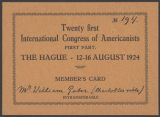 Image of William Gates mementoes of trip to the International Congress of Americanists in Sweden